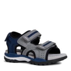 Sandalia para niño gris y azul Geox. Chola JR BOREALIS