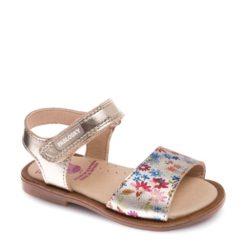 Sandalias de Niña DORADO con FLORES marca Pablosky