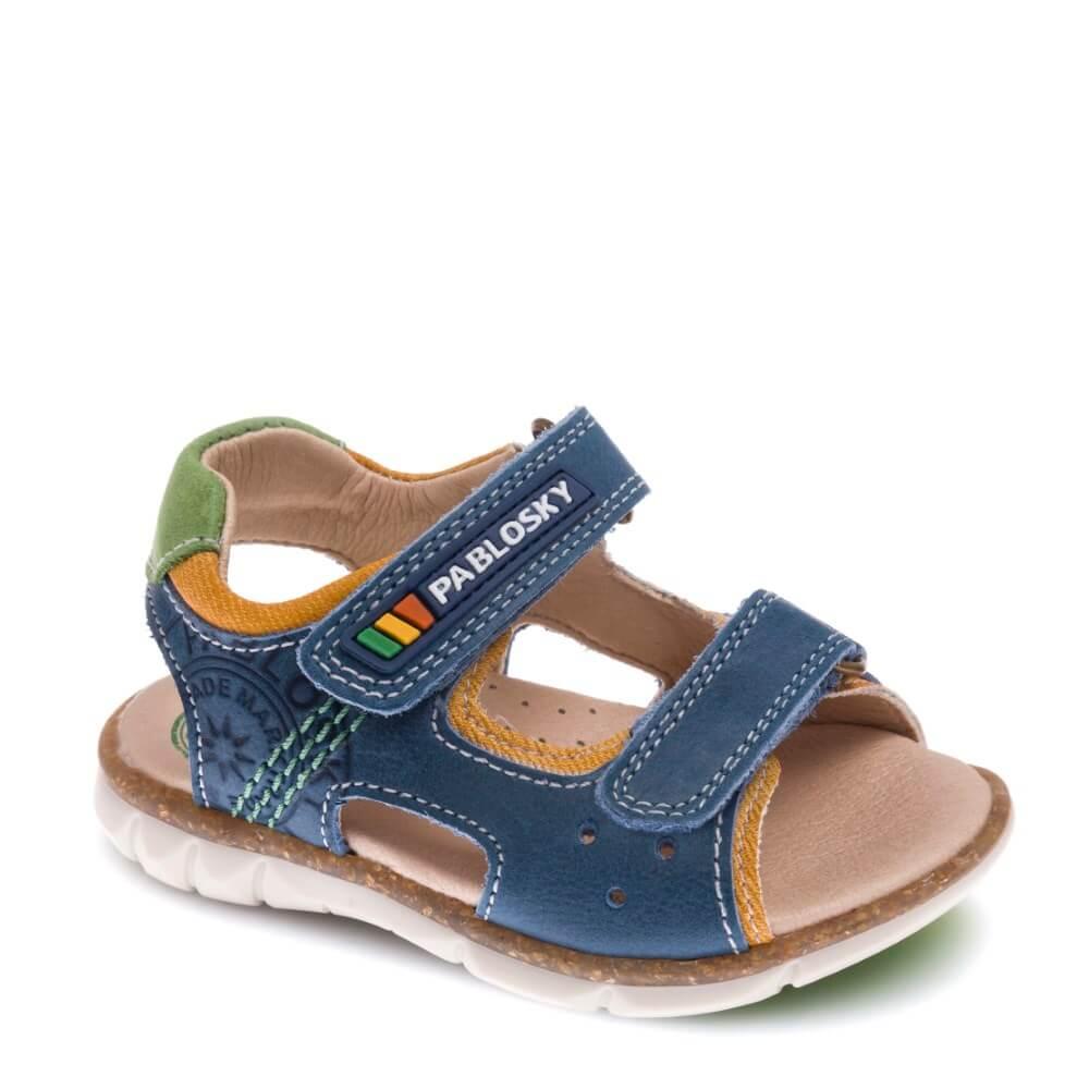 a7660fec50f Sandalias de Bebe Niño en Azul de Piel marca PABLOSKY | CanariasKidShoes