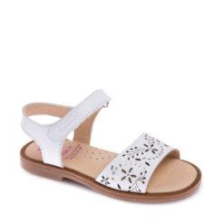 Sandalias de Niña BLANCAS con Brillantes marca Pablosky