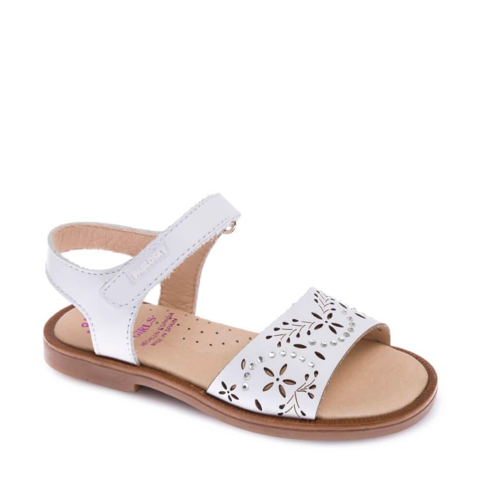 d3185bcc07f8 Sandalias de Niña BLANCAS con Brillantes marca Pablosky