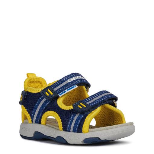 Chola bebe y niño azul y amarilla Geox. BABY MULTY BOY