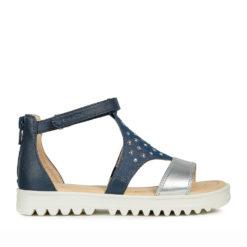 Sandalias color Azul Jeans y Plata para Niñas y Mamás iguales
