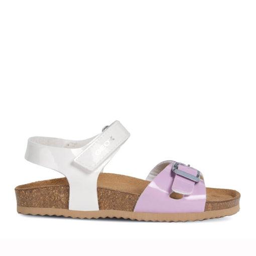 Sandalias Lila y Blanca para Niñas Geox
