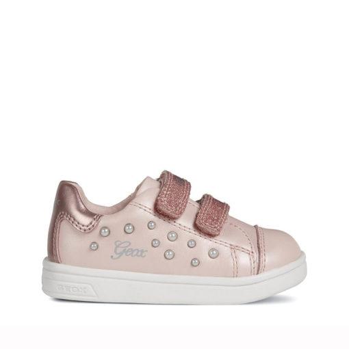 Zapatillas niña rosa palo Geox. Tenis BABY DJROCK GIRL