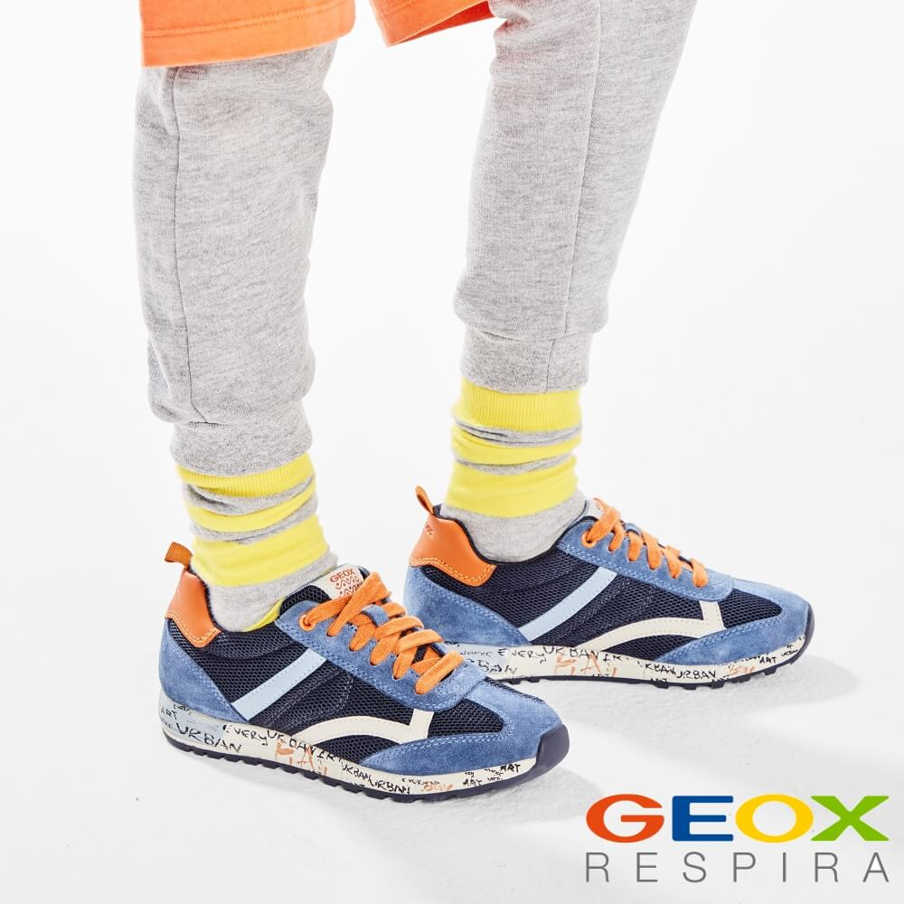 92cf208867 detalles de zapatilla casual geox niño en marrón