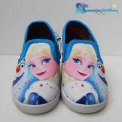 Zapatilla de Tela de Elsa y Olaf