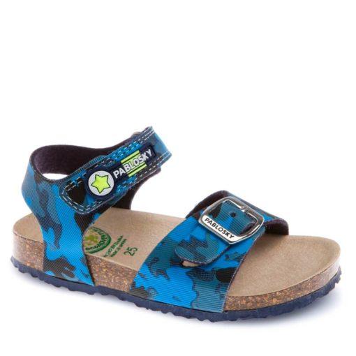 Sandalia Azul Vaquero Camufalje de Pablosky