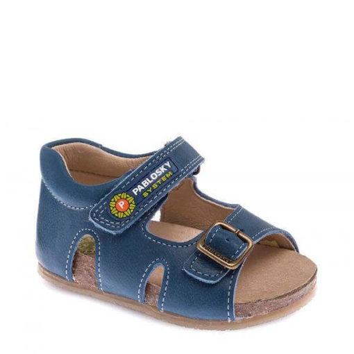 Sandalias de Niño en Azul de Piel PABLOSKY