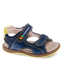 Sandalias de Bebe Niño en Azul de Piel marca PABLOSKY