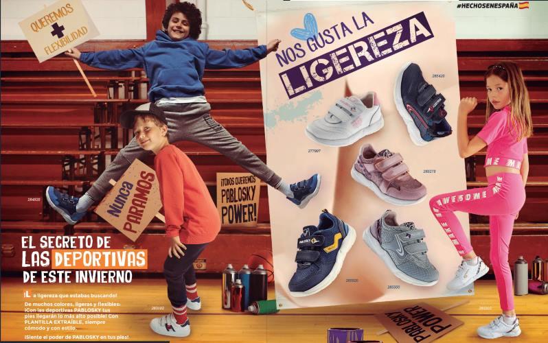 zapatillas deportivas Pablosky para niños y niñas